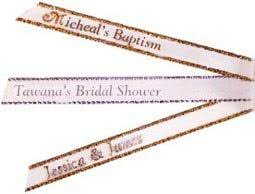 printed ribbons for favors personalized printed ribbons fast for party favors in island