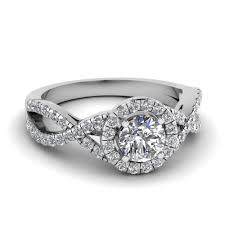 timeless wedding rings entwined halo diamond engagement ring in 14k white gold