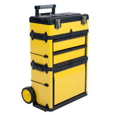 Portable Garage Home Depot Stalwart 22 5 In Rolling Stacking Portable Metal Trolley Tool Box