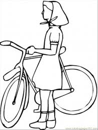 village with bicycle coloring page free bikes coloring