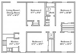four bedroom house plans wonderful small 4 bedroom house plans free typical floor plans