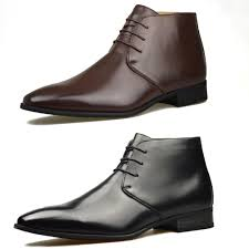 boots uk leather mens brown leather smart formal casual lace up boots shoes uk size