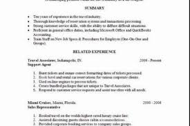 travel resume template