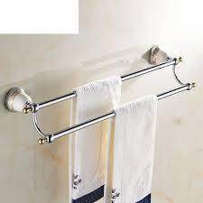 Bathroom Towel Bars 30 Off Towel Rack Brass Double Bar Towel Rack Bathroom Accessories