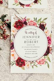 summer wedding invitations picture of burgundy floral boho summer wedding invitations