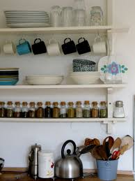 open shelving in your kitchen