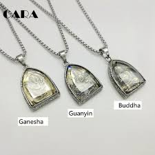 steel necklace jewelry images 2018 new statement necklace vintage buddha pendant buddhist jpg