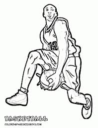 basketball player coloring page coloring pages ideas