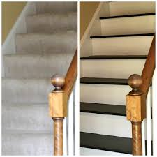 How To Refinish A Wood Banister How To Remove Carpet From Stairs And Paint Them
