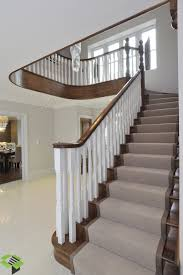 cut string staircase in walnut stairbox staircases