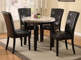 Small Round Black Dining Table And  Chairs Starrkingschool - Small round kitchen table set