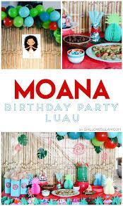 luau birthday party moana birthday party girl glam