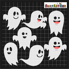 halloween funny ghosts clip art set daily art hub