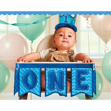 1st birthday boy 1st birthday boy deluxe high chair decoration birthdayexpress