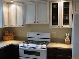 White Painted Cabinets With Glaze by Antique White Glazed Kitchen Cabinets Timeless White Glazed