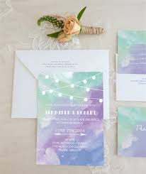 inexpensive blue purple and green watercolor stringlights wedding