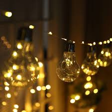 christmas garland battery operated led lights 10led fairy transparent copper wire bulb battery operated string
