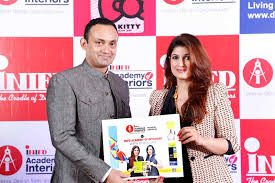 mr vivek gautam with chief mentor twinkle khanna u0027inifd academy