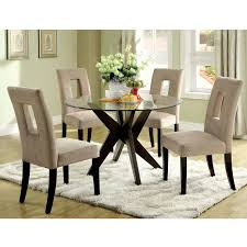 Glass Top Dining Room Sets Marceladickcom - Glass round dining room tables