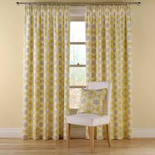 Mustard Curtain Pair Of Montgomery Olympic Curtains Size 116 X 137cm Colour
