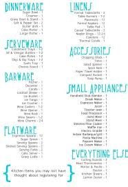bridal shower registry checklist wedding registry basics 7 best registry images on