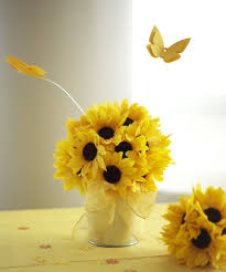 Sunflower Centerpiece Sunflower Themed Bridal Shower Sunflower Party Decorations