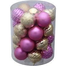 time 26 pack pink gold matte glitter ornaments walmart