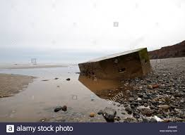 abandoned world war 2 pillbox withernsea beach east yorkshire