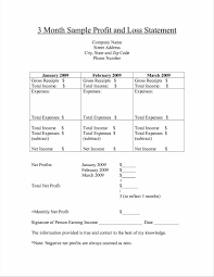 and loss template excel loss statement form newsletter template