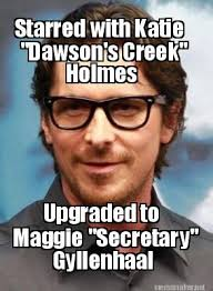 Hipster Meme Generator - hipster christian bale starred with katie dawson s creek holmes