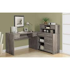 Office Depot Desks And Hutches Monarch Specialties L Shaped Computer Desk With Hutch Dark Taupe
