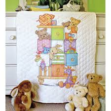 dimensions sted cross stitch kit baby drawers quilt