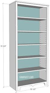 Wood Shelf Plans by Best 25 Bookcase Plans Ideas On Pinterest Build A Bookcase
