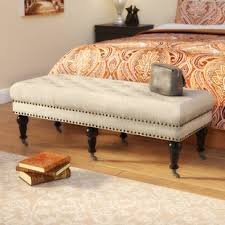 end bed bench end of bed bench king size wayfair