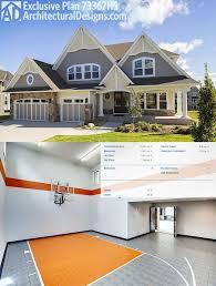 Sport court home plans Home plan