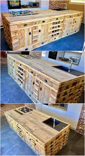 pallet kitchen island creative ways to reuse wood pallets into unique furniture
