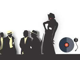 music gangsters silhouettes ppt backgrounds music templates