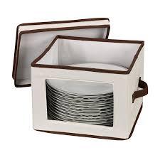 household essentials 536 dinnerware storage box with