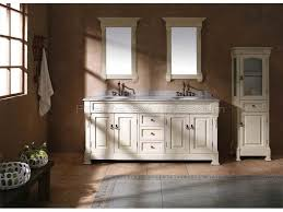 ultimate white bathroom double vanity with additional realie