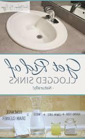 clogged bathroom sink drain home remedy clogged bathroom sink