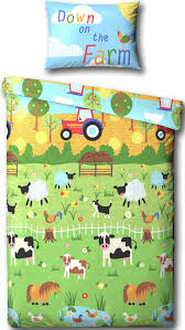 Cow Duvet Cover Kids Character Junior Bed Toddler Bed Cot Bed Duvet Cover
