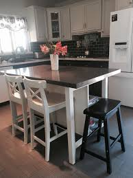 Ikea Kitchen Island With Stools Ikea Stenstorp Kitchen Island Hack Here Is Another View Of Our