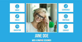 resume website template resume single page adobe muse template by loveishkalsi themeforest
