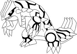 coloriage groudon pokemon à imprimer