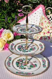 duchess indian tree pattern vintage bone china tiered cake stand c