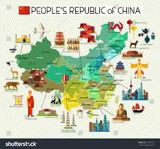 Maps Of China by Map China Travel Iconschina Travel Map Stock Vector 542740771