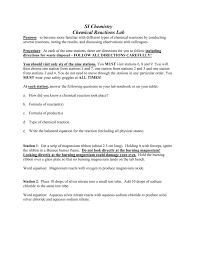 worksheet six types of chemical reaction worksheet huachoaldia
