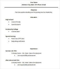 high school graduate resume 10 high school graduate resume templates pdf doc free