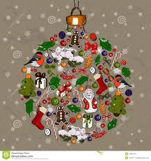 christmas ball made from decorations stock images image 34682704