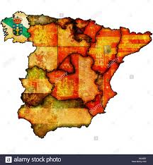A Map Of Spain by Galicia Region On Administration Map Of Regions Of Spain With